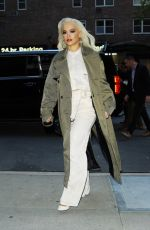 Rita Ora Arrives at The Greenwich Hotel in New York City