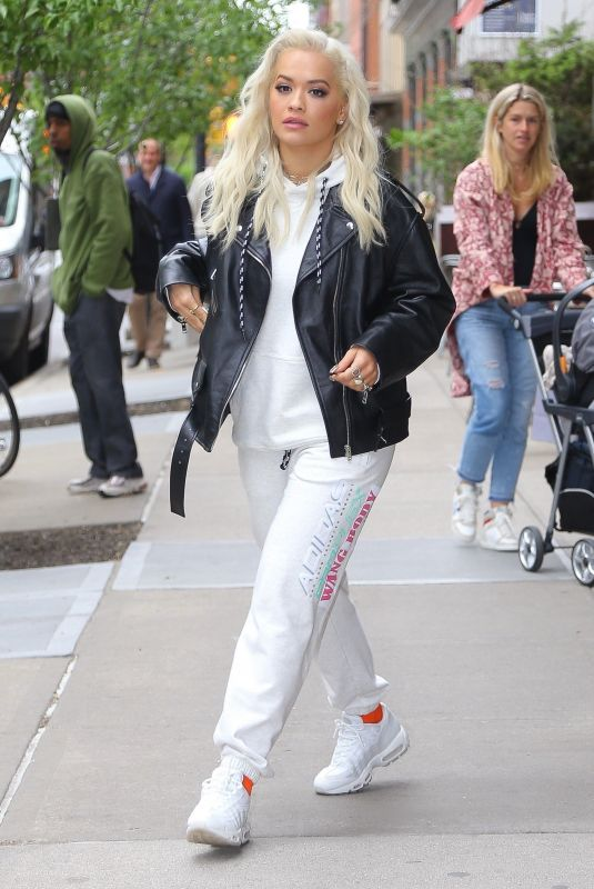 Rita Ora Steps out of the Greenwich Hotel in NYC