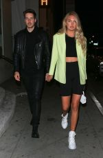Romee Strijd Leaves dinner at Catch In West Hollywood