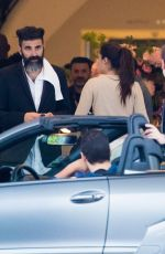 Sara Sampaio Picked up by her boyfriend Oliver Ripley at her hotel in Cannes