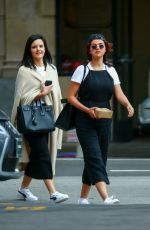 Selena Gomez Grabs lunch with friends at Tortino