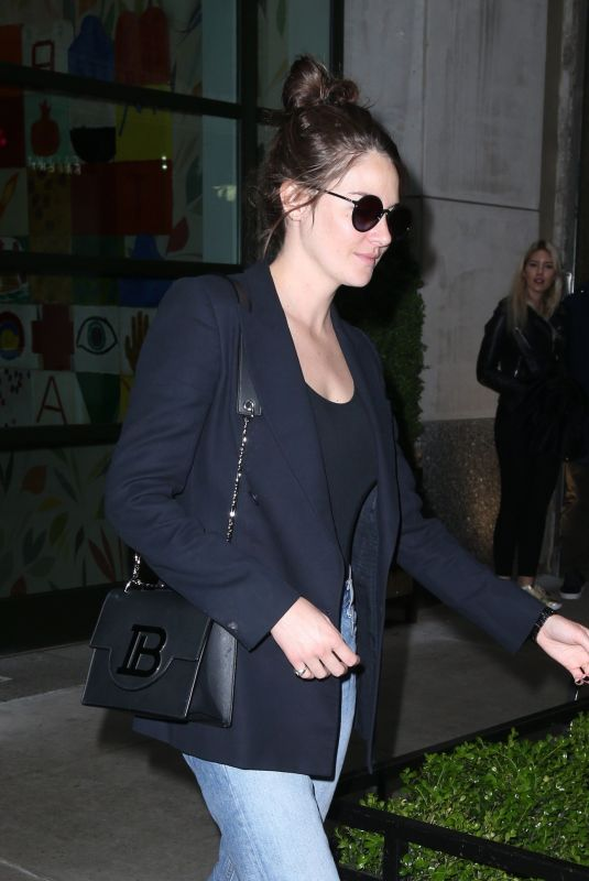 Shailene Woodley Out in a blue blazer and matching denim in NYC