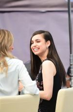 Sofia Carson Films for EXTRA at Universal CityWalk in Hollywood