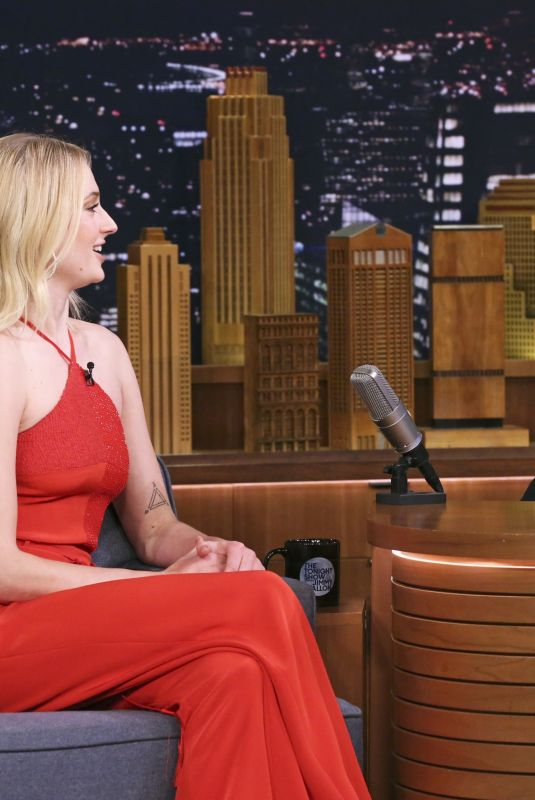Sophie Turner At The Tonight Show Starring Jimmy Fallon in NY