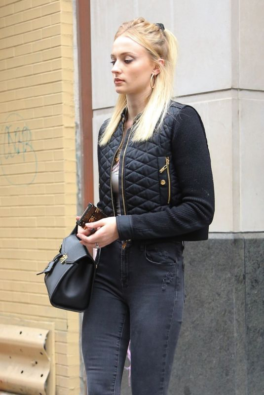Sophie Turner Heads out in New York City