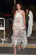 Taylor Hill Arrives at the Elton John Rocket Man Party in Cannes