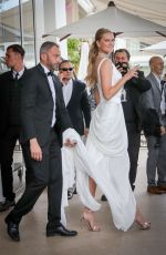 Toni Garrn Seen on the Croisette during the 72nd Cannes Film Festival in Cannes