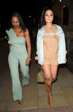 Tulisa Contostavlos Having a night out at Vanitas Bar and Restaurant in Manchester with a female friend