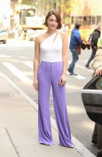 Violett Beane Outside BUILD Series in New York