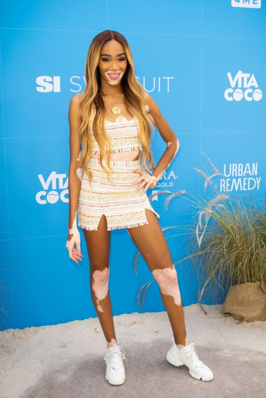 Winnie Harlow At Sports Illustrated Swimsuit On Location Day 2 at Ice Palace in Miami