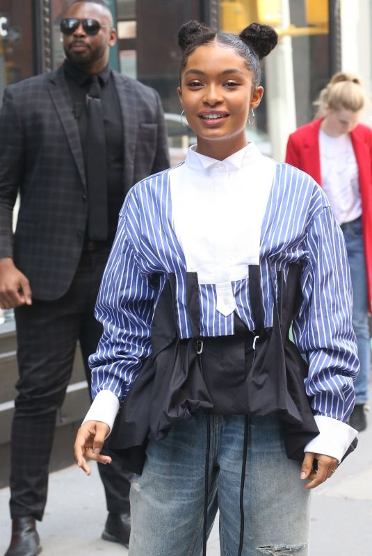 Yara Shahidi At AOL Build Series in New York City