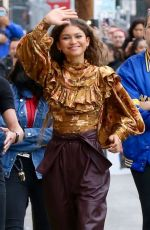Zendaya Arrives for an appearance on