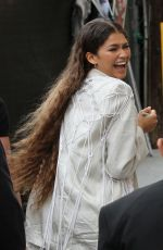 Zendaya Greet Fans At Jimmy Kimmel Live! In Hollywood