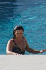 Alexandra Cane Chilling at her pool on Mykonos