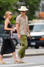 Annabelle Wallis & Chris Pine Out and about in downtown Manhattan
