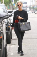 Ashlee Simpson Leaves the gym in Studio City