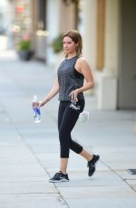 Ashley Tisdale Wraps up a workout in Studio City