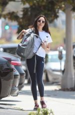 Aubrey Plaza Going to a gym in LA