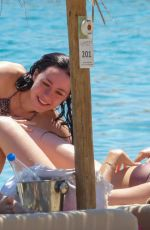 Aurora Ramazzotti Wearing a leopard print bikini at a beach on Mykonos Island