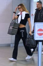 Bella Hadid Arriving at Florence Airport in Florence Italy