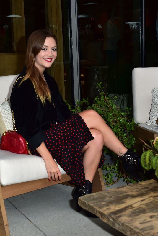 Billie Lourd At 1 Hotel West Hollywood Preview Dinner in West Hollywood