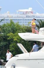 Britney Spears In a Bikini on a Yacht in Miami