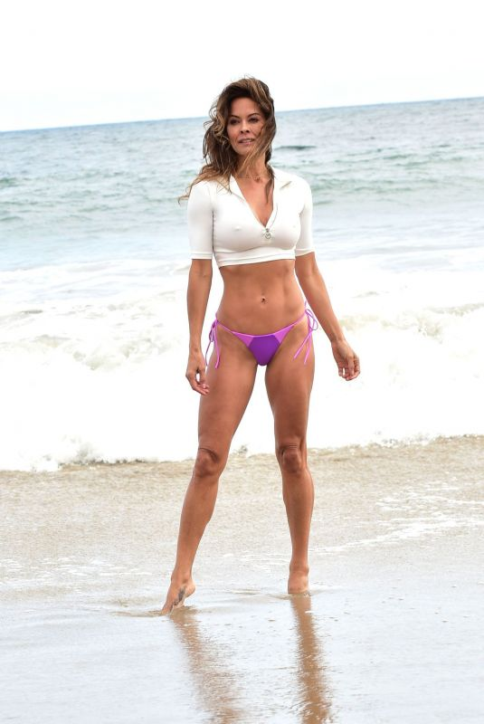 Brooke Burke On the beach in Malibu