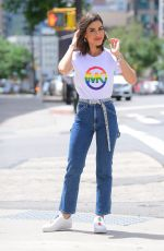 Camila Coehlo Stuns in Pride T-Shirt for Michael Kors Photoshoot in NYC