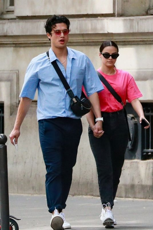 Camila Mendes & Charles Melton Out on a stroll in Paris