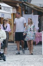 Caroline Wozniacki and David Lee spotted strolling hand in hand and enjoying an ice cream in Portofino