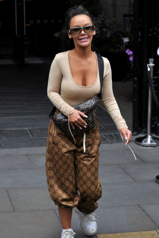 Chelsee Healey At Soap Stars exit their hotel in Manchester