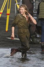 Chloe Moretz On the set of Shadow in the Cloud in New Zealand