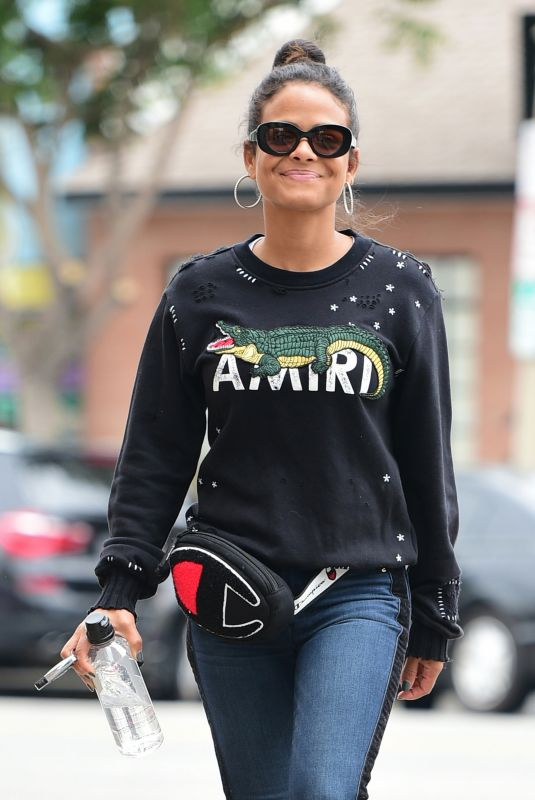 Christina Milian Seen out in Los Angeles