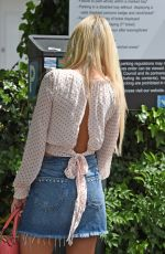 Christine McGuinness As she is seen wearing a nice summery outfit at KP Aesthetics Hair Removal Clinic in Hale in Cheshire