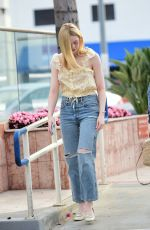 Elle Fanning Out in LA