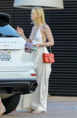 Elle Fanning Out in malibu