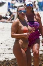 Ellie Brown and IG Model, Abigail Goddard wear barely-there bikinis during sexy dip in Miami Beach