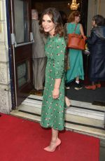 Emilia Fox Arrives for the opening night of Bitter Wheat at the Garrick Theatre, Charing Cross Road, London