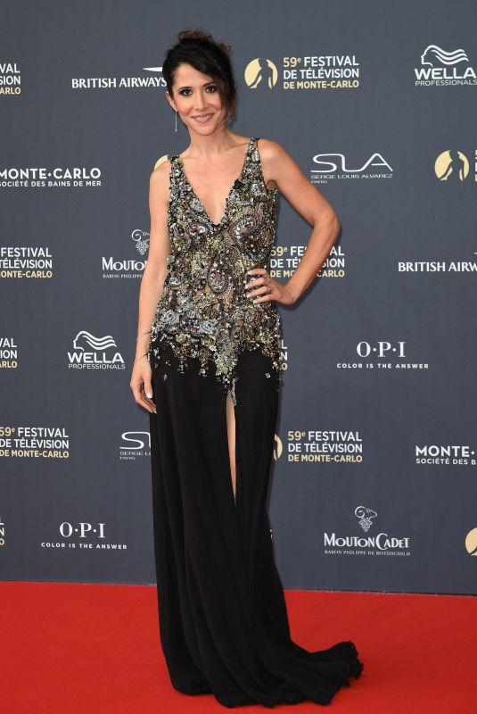 Fabienne Carat At Opening ceremony of the 59th Monte Carlo TV Festival in Monaco