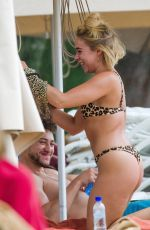 Gabby Allen Spotted in bikini on the beach in Barbados
