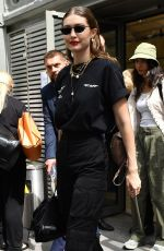 Gigi Hadid Outside Off-White Menswear Spring Summer 2020 show in Paris, France
