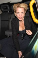 Gillian Anderson Out in London