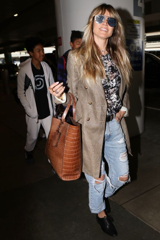 Heidi Klum Arriving at LAX Airport in Los Angeles