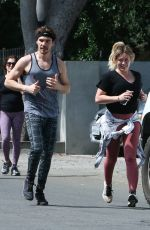 Hilary Duff Jogging in LA