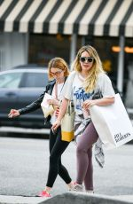Hilary Duff Joins a friend during a shopping trip in Studio City