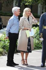 Holly Willoughby Outside ITV Studios Filming This Morning in London