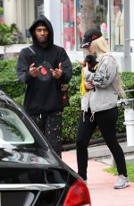 Iggy Azalea Out and about with boyfriend Playboi Carti and puppy in Miami
