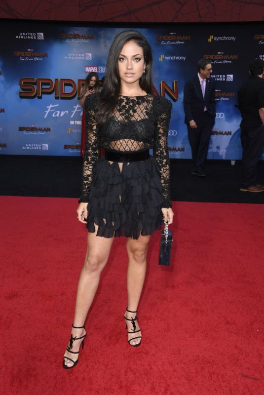 """Inanna Sarkis At """"Spider-Man Far From Home"""" premiere in Hollywood"""