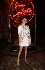 Iris Mittenaere At Loubicircus Party by Christian Louboutin in Paris
