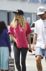 Jessica Hart & James Kirkam take a stroll after lunch in LA